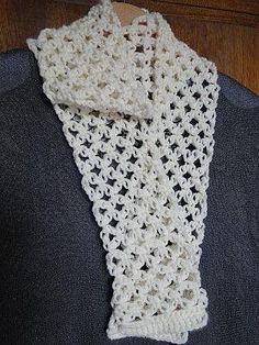 Timeless Solomon's Knot Crochet Scarf | AllFreeCrochet.com