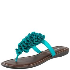 turquoise Piper flip flops