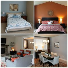This Winter we had lots of fun helping a family expecting their first baby outfit their brand new house. They purchased a new construction home for the space and amenities, but longed for color and style on a budget. We solved that problem with creating a color palette that worked with the existing primary tan color and wood finishes throughout the home. A lot can be achieved with just paint, furniture, and decor; just find your inspiration piece and you are on your way!