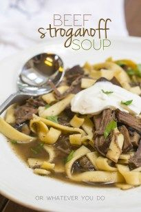 Beef Stroganoff Soup » Or Whatever You Do