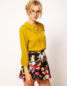 Enlarge ASOS Blouse With Embroidered Collar