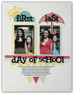 First/Last Day of School...love this idea! - love this for the girls' rooms (or bathroom?) each year.