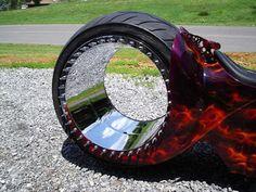 Increible moto con ruedas sin ejes