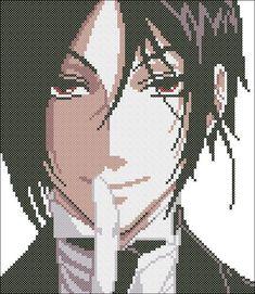 Sebastian from Kuroshitsuji / Black Butler Anime Cross Stitch Pattern