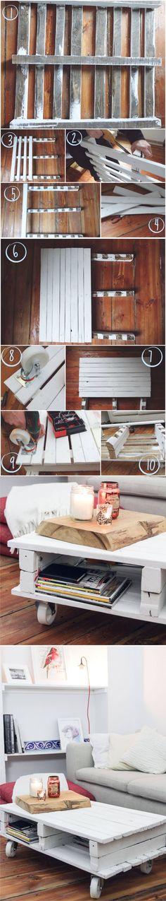 heylilahey.com - DIY Pallet Table