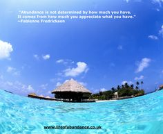 Abundance Is Not Determined By How Much You Have