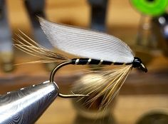 #338. Saltoun from Bergman. Short on ginger hackles, so it became rather sparse. Nice enough though... Size 6. D.E. Round hook. By Roy-Tore Gjertsen