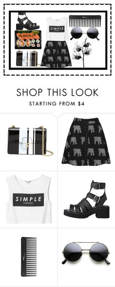 """""""Untitled #78"""" by april-diamond ❤ liked on Polyvore featuring Dolce&Gabbana, Topshop, Monki and Sephora Collection"""