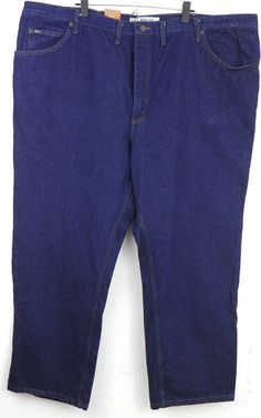 Lee Big and Tall Regular Fit Dark Blue Straight Leg Jeans 52x30 Measures 50x31 #Lee #ClassicStraightLeg