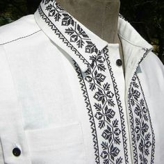 Folk Embroidery, Embroidery Stitches, Embroidery Designs, Blazer Outfits Men, Mens Fashion Wear, Folk Fashion, Embroidered Clothes, Beautiful Blouses, Menswear