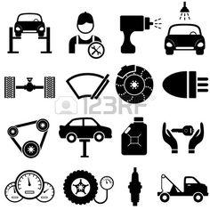mazda 3 logo vector. car maintenance and repair icon set stock vector mazda 3 logo