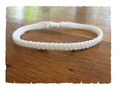 Handcrafted Classic White Cotton Fair Trade Thai Buddhist Wristband Bracelet Wristwear by thaiwristbands on Etsy https://www.etsy.com/listing/56475213/handcrafted-classic-white-cotton-fair