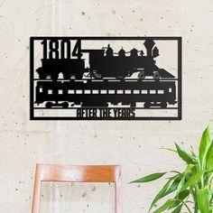 Deccort | Train 1804 Metal Tablo Cinema, Train, Metal, Poster, Movie Theater, Movies, Film, Metals, Posters