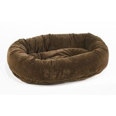 Platinum Microvelvet Donut Pet Bed  Walnut Medium 35 x 27 x 8 in -- Click on the image for additional details.(This is an Amazon affiliate link)