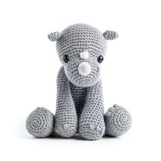 Ruby the rhino, pattern in Zoomigurumi 5 - amigurumi pattern book on Amigurumipatterns.net