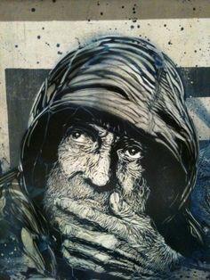 French artist C215 . #c215 http://www.widewalls.ch/artist/c215/