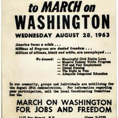 50 yrs ago today......The flyer that was passed around for the March on Washington. Estimated 250,000 individuals arrived in Washington Dc to protest against discrimination, poverty & demand jobs. Millions ALSO heard the GREATEST SPEECH of the 20th Century Dr Martin Luther King's DREAM #dc50  #mlk #ihaveadream #washingtonat50 - @Greg Takayama Terrell- #webstagram