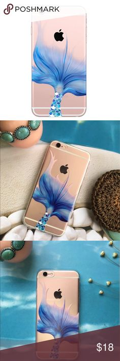 Mermaid Tail Rubber Iphone Case Available for iphone 6/6s/6plus. Please comment the size you will need and I will create you a separate listing. Accessories Phone Cases