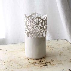 Small Carved Porcelain Vase - Isabelle Abramson