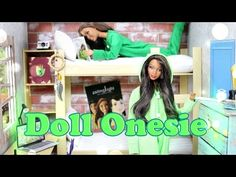 How to Make a Doll Onesie - Doll Crafts - YouTube