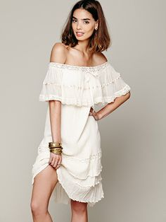 Aaand of course there's this one-It's $69 online and $25 in the store? I may send you back Megs or Liz... Free People Athena Off-The-Shoulder Dress,