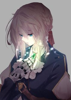 Violet evergarden art,so amazing. Anime Shojo, Sad Anime, Manga Anime, Manga Girl, Anime Art Girl, Anime Boys, Violet Evergreen, Desu Desu, Violet Garden