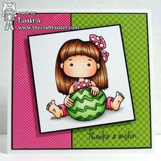 Little Miss Muffet - Polka Dot Pals Neomie digital stamp