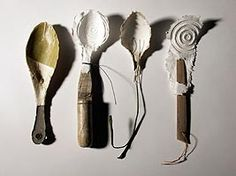 By Magie Hollingworth. Ceramic Spoons, Wooden Spoons, Ceramic Pottery, Shabby Chic Photography, Spoon Art, Sugar Spoon, How To Distress Wood, Handmade Pottery, Design Crafts