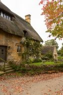 Picture of Dovecot of Minster Lovell in Cotswold village with graveyard stock photo, images and stock photography. Cotswold Villages, Ways To Travel, Old Houses, England, Autumn, Stock Photos, House Styles, City, Cottages