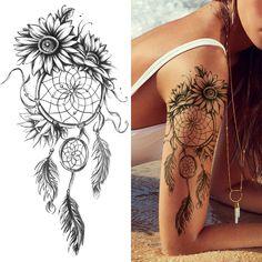 Calf Tattoos For Women, Tattoos For Women Flowers, Beautiful Tattoos For Women, Shoulder Tattoos For Women, Back Tattoo Women, Tattoos For Guys, Girl Arm Tattoos, Feminine Shoulder Tattoos, Side Thigh Tattoos Women