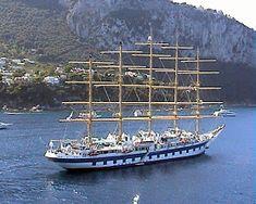 Cosas únicas : Royal Clipper, El mayor velero del mundo Royal Clipper, Fleet Of Ships, Tall Ships, Sailing Ships, Transportation, Boat, World, Chips, Sailing Yachts