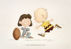 Lucy and Charlie Brown.