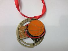 Multi colored Basketball Christmas Ornament Medal by GiftWorks. CLICK NOW to buy for $8.95 with FREE SHIPPING