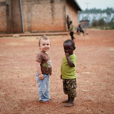 Kristy Carlson's photograph of her son and a friend in Burundi