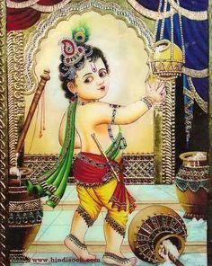 Latest HD Lord Krishna Images for Radha Krishna Wallpaper Lovers Krishna Avatar, Krishna Hindu, Bal Krishna, Cute Krishna, Radhe Krishna, Shiva Shakti, Kerala Mural Painting, Tanjore Painting, Indian Art Paintings