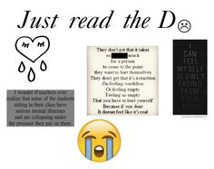 """Just read the D"" by caniff-is-bae15 ❤ liked on Polyvore featuring arte"