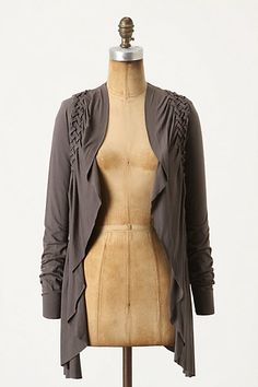 Anthropologie sweater. Interesting detailing on the shoulders. Almost looks braided.