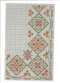 This Pin was discovered by Sib Cross Stitch Rose, Cross Stitch Borders, Cross Stitch Samplers, Cross Stitch Flowers, Cross Stitch Designs, Cross Stitching, Cross Stitch Patterns, Hardanger Embroidery, Hand Embroidery Patterns