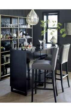 I LOVE love love the idea of a bar. Would give me extra storage place for barware and extra seating while entertaining. Love love love!!!!!!