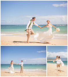 Fun Bride Groom Photos At A Hawaii Beach Wedding Photography Simple Maui
