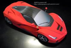 2013`s Ferrari LaFerrari Paper Model - by Shinya Papercraft  - == -  By Japanese designer Shinya, here is the Ferrari LaFerrari paper model, successor of the Ferrari Enzo.