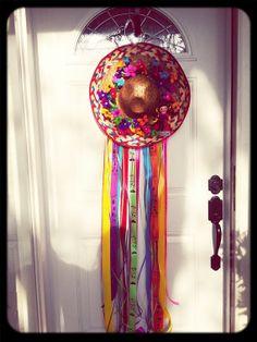 Fiesta wreath sombrero by Shescraftybyclara on Etsy, $45.00