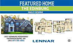 FEATURED HOME: The Edinburg @ Oakley Reserve. Last home in this design!