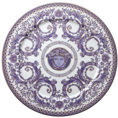 Rosenthal Meets Versace Le Grand Divertissement Service Plate (10,975 THB) ❤ liked on Polyvore featuring home, kitchen & dining, serveware, backgrounds, circles, decor, filler, round, circular and rosenthal