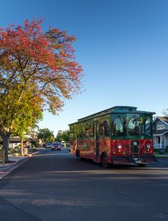 Take in the sights and eats via the trolley in Yountville, Napa