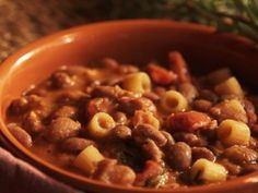 """""""Pasta e Fagioli"""" -- Courtesy of Gabriele Corcos and Debi Mazar from Cooking Channel's Extra Virgin - """"Liquid Gold"""""""