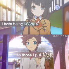 """I hate being second to those I put first..""    Anime: Nagi No Asukara (A Lull In The Sea)    © by Karunase    karunase.tumblr.com"