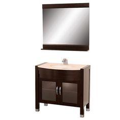 """Daytona 36"""" Bathroom Vanity with Mirror - Espresso"""