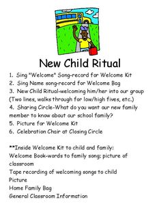 New Child Ritual