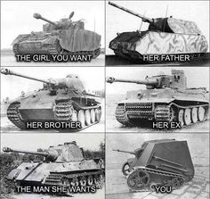 One's life through the panzer. Army Jokes, Military Jokes, Military Dating, Memes Humor, History Jokes, Funny Tanks, Russian Memes, War Thunder, Funny Video Memes